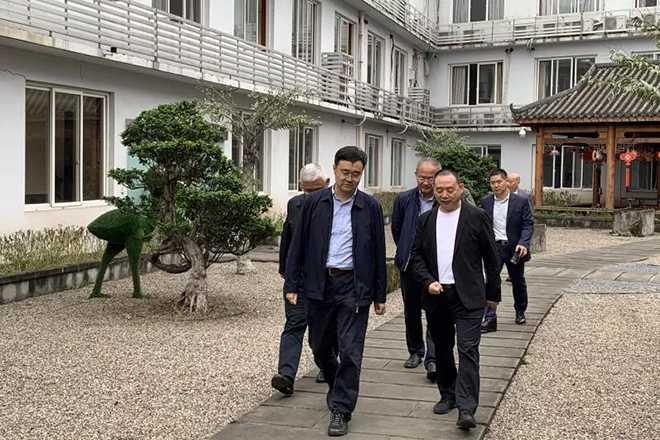 省政府副秘书长王峻一行调研米乐m6平台集团